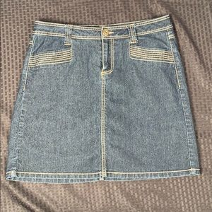 Baccini Jean Skort Size 8 with shorts underneath